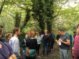 Nigel explains the natural history of Woodhouse Ridge to the group